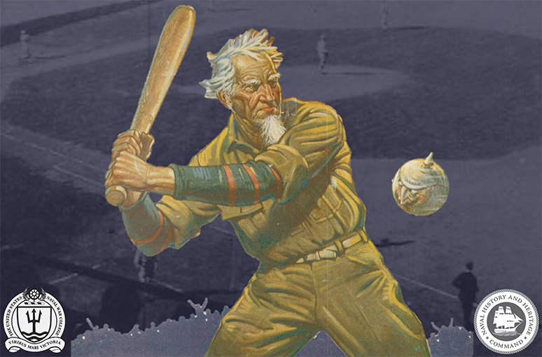U.S. Naval War College baseball game graphic